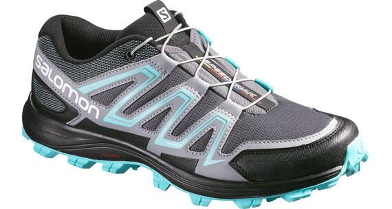 Salomon W's Speedtrak Shoes Dark Cloud/Light Onix/Bubble Blue
